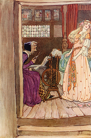 'Sleeping Beauty' - Grimm's Fairy Tales, 1909 illustrated by Millicent Sowerby