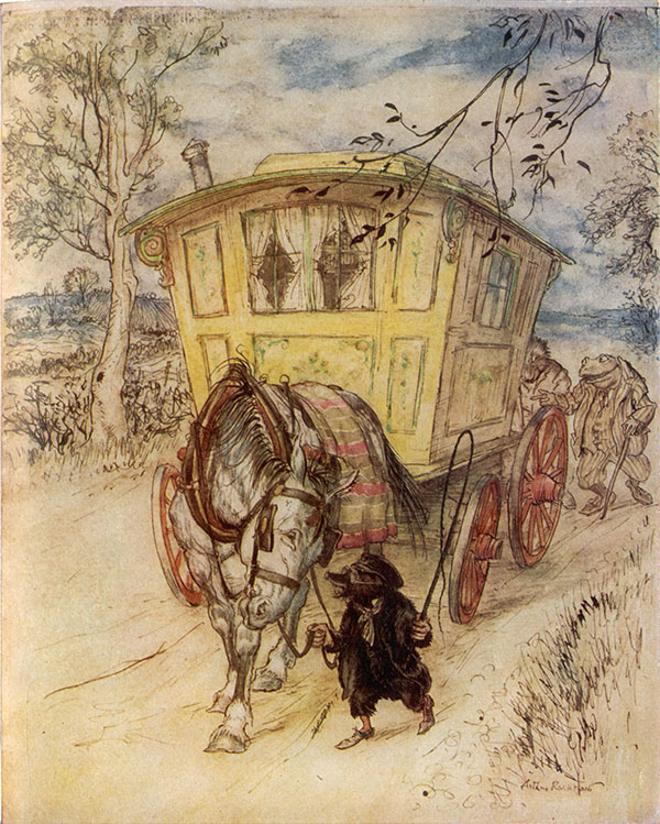 The Wind in the Willows, Arthur Rackham, 1940.