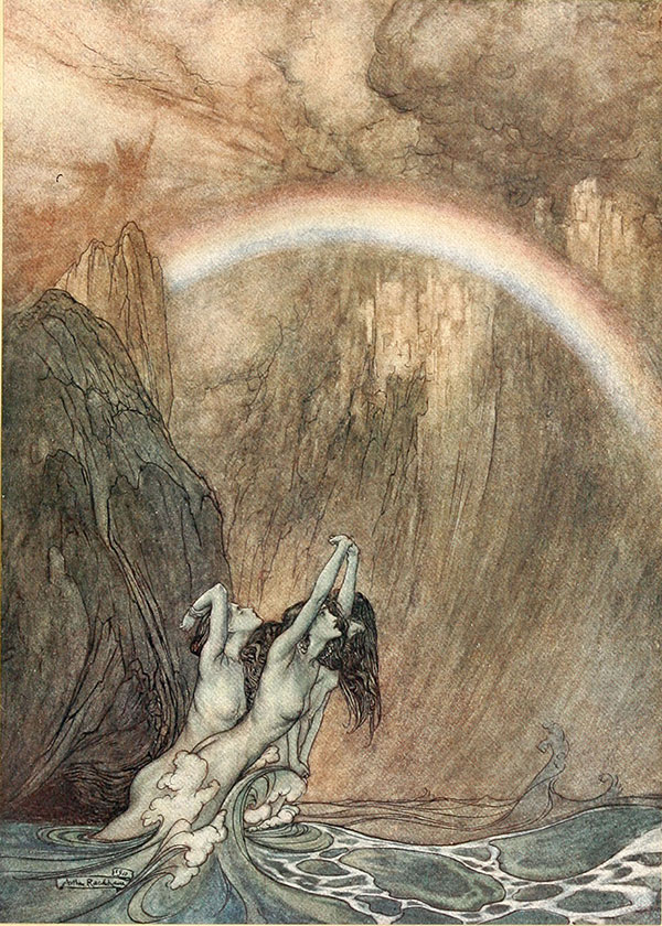 From The Ring of the Niblung, Arthur Rackham, 1910.