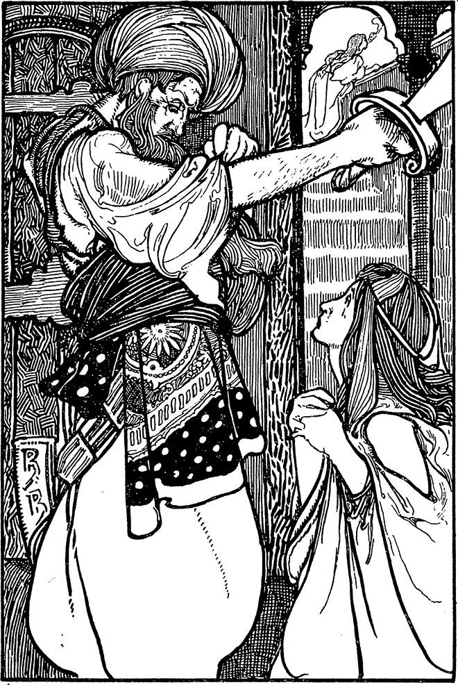'Bluebeard' - Tales of Passed Times, Charles Robinson, 1900.