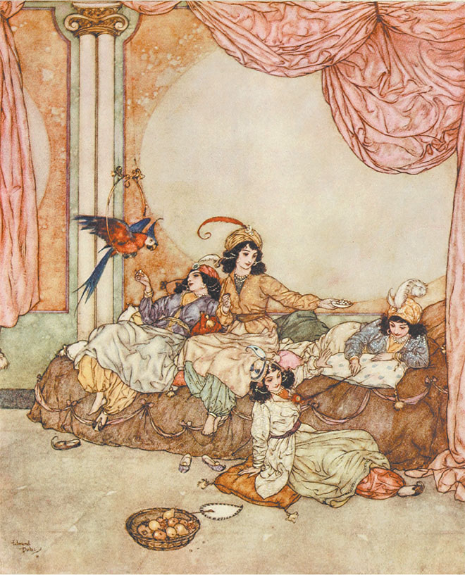 'Bluebeard' - The Sleeping Beauty and Other Fairy Tales, Edmund Dulac, 1910.