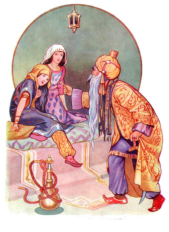 'Bluebeard' - Fairy Tales, Margaret Tarrant, 1915.