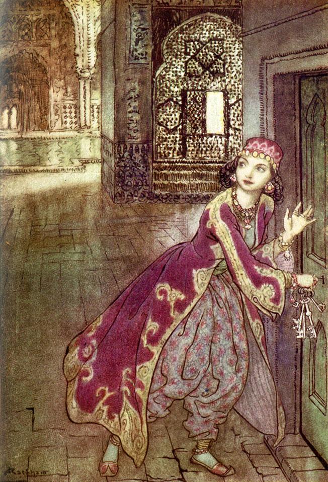 'Bluebeard' - The Arthur Rackham Fairy Book, Arthur Rackham, 1933.