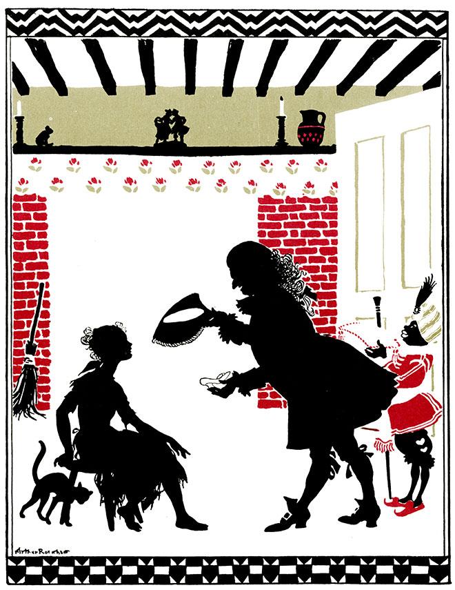 From Cinderella by Arthur Rackham, 1909.