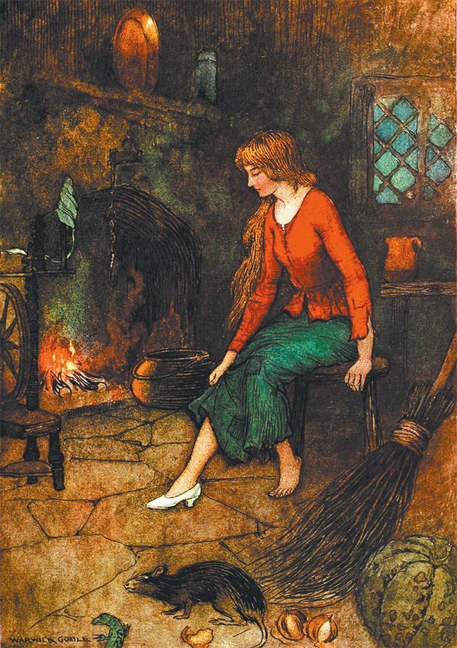 'Cinderella' - The Fairy Book, Warwick Goble, 1923.