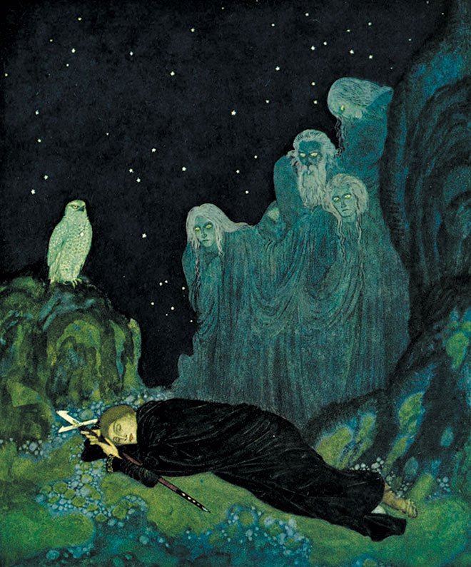 The Dreamer of Dreams, Edmund Dulac, 1915.