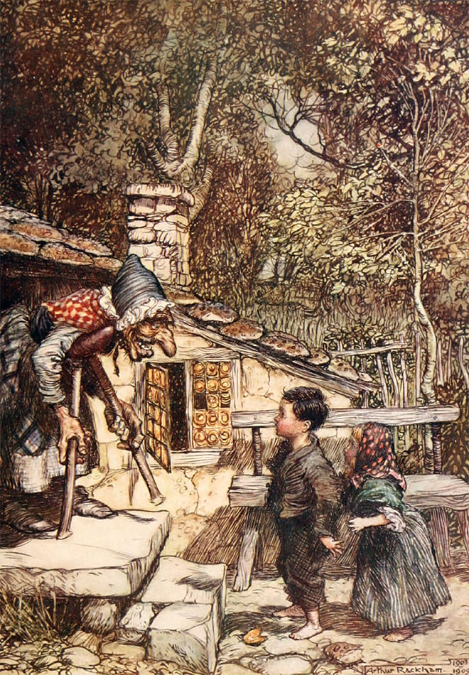'Hansel and Gretel' - Hansel and Grethel and Other Tales, Arthur Rackham, 1920.