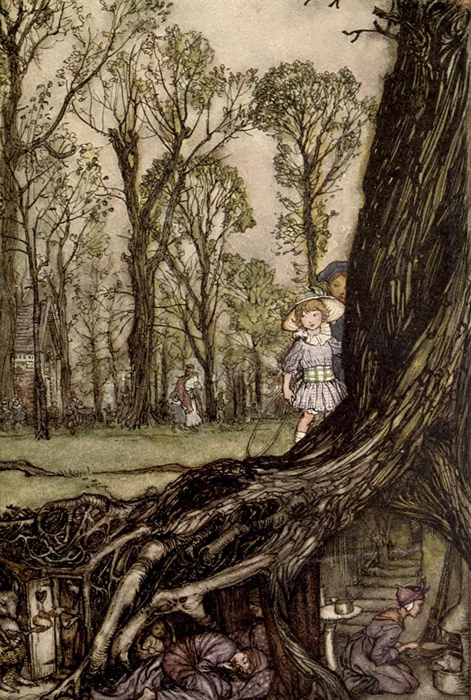 Arthur Rackham, Peter Pan in Kensington Gardens, 1918.