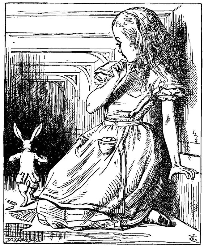 Alice's Adventures in Wonderland, John Tenniel, 1865.