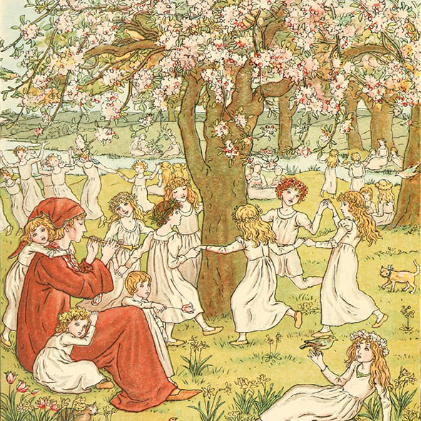 The Pied Piper of Hamelin, Kate Greenaway, 1888. (Golden Age Illustrated Books)