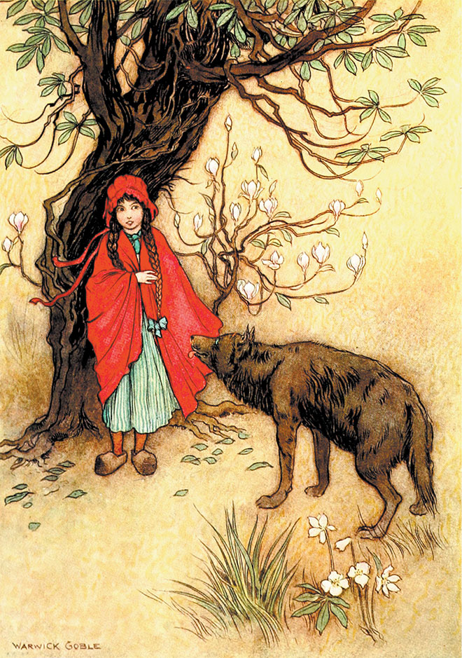 'Little Red Riding Hood' - The Fairy Book, Warwick Goble, 1923.