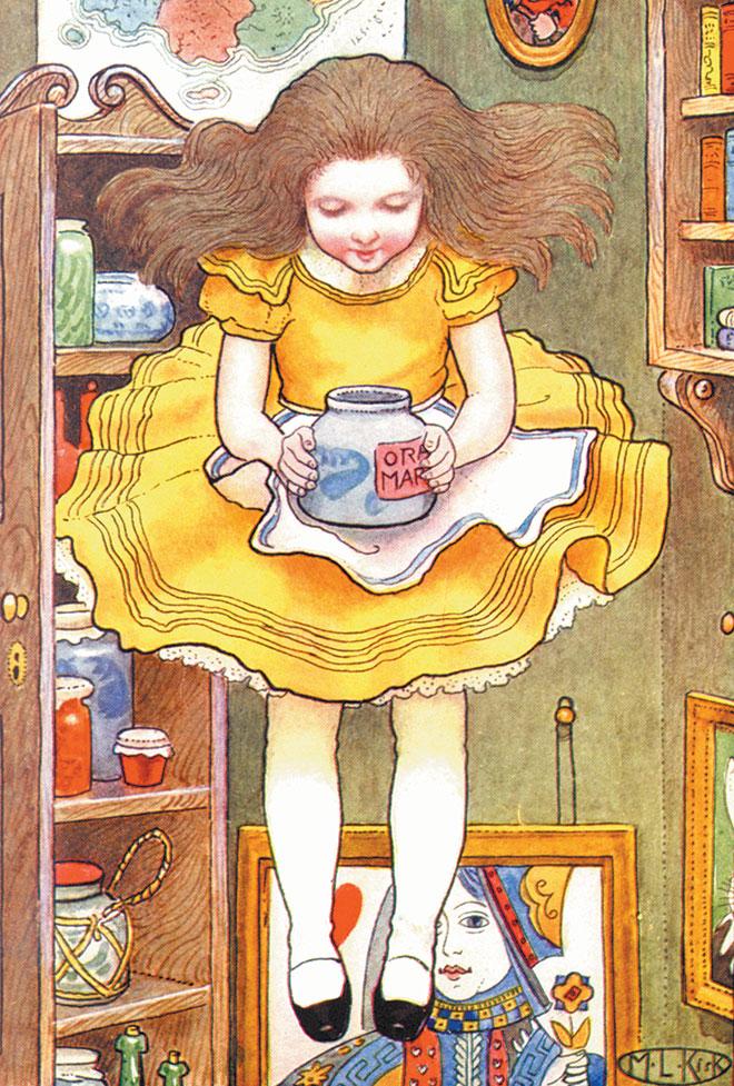 Alice's Adventures in Wonderland, M. L. Kirk, 1904.