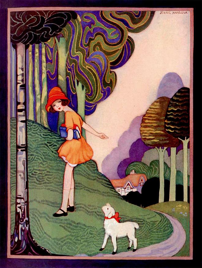 My Book of Mother Goose Nursery Rhymes, Jennie Harbour, 1921.