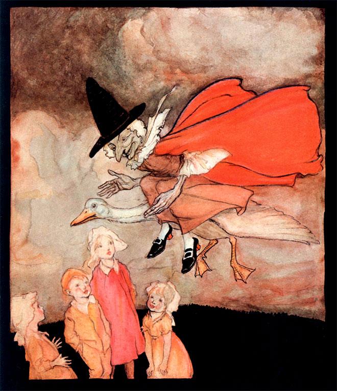 Mother Goose, Arthur Rackham, 1913.