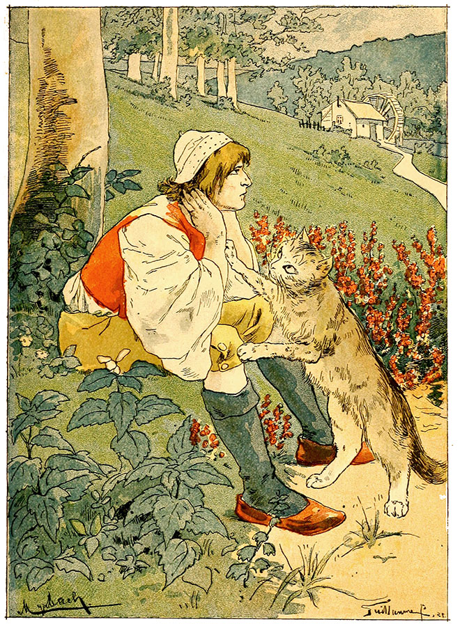 'Puss in Boots' by  Albert Guillaume, 1900.