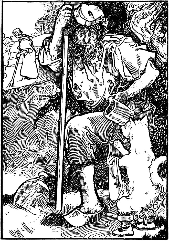 'Puss in Boots' – Tales of Passed Times by Charles Robinson, 1900.