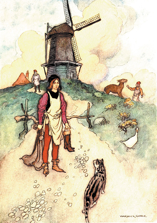 'Puss in Boots' – The Fairy Book, Warwick Goble, 1923.