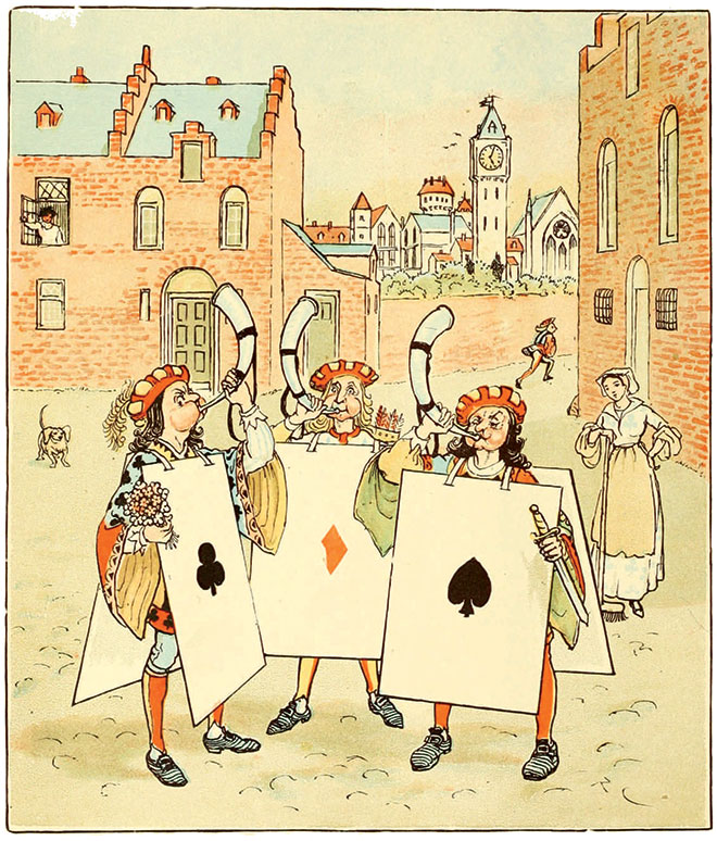 The Queen of Hearts, Randolph Caldecott, 1881.