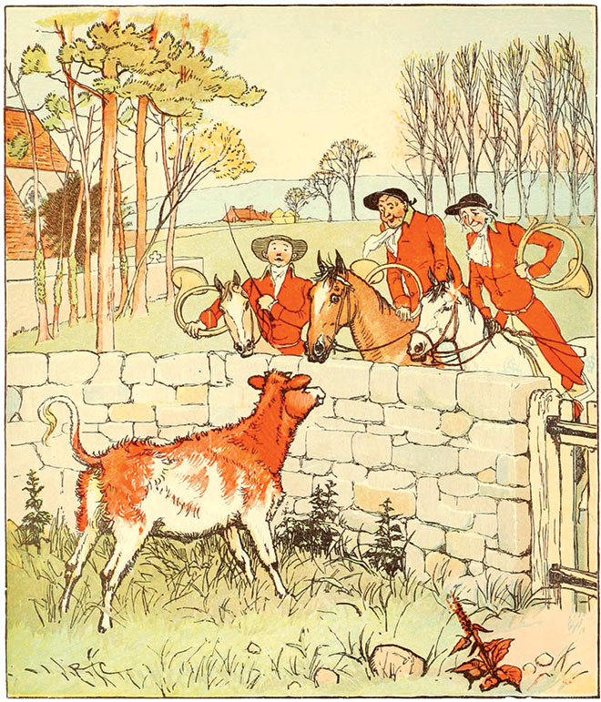 The Three Jovial Huntsmen, Randolph Caldecott, 1880.