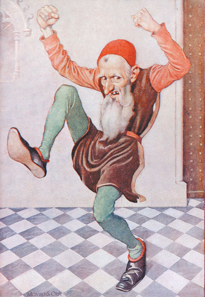 Rumpelstiltskin illustration by Monro S. Orr. From Grimm's Fairy Tales, 1932