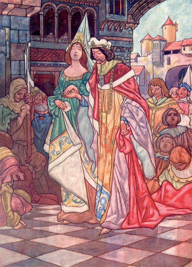 'Sleeping Beauty' - The Big Book of Fairy Tales, Charles Robinson, 1911.