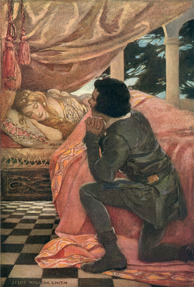 'Sleeping Beauty' - A Child's Book of Stories, Jessie Willcox Smith, 1914.