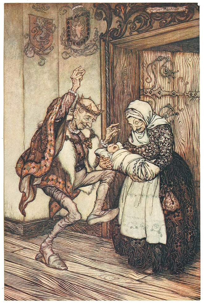 'Sleeping Beauty' - Snowdrop and Other Tales, Arthur Rackham, 1920.