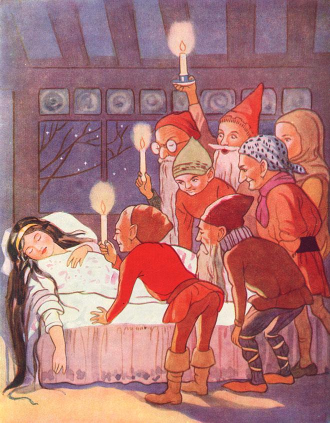 'Snow White' - Fairy Tales, Margaret Tarrant, 1915.