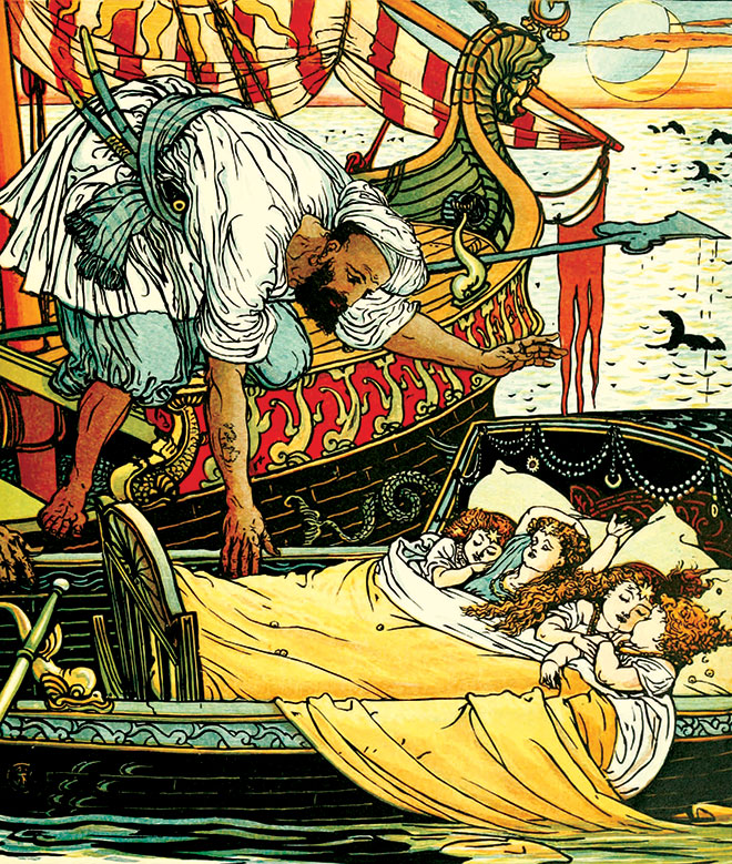 The Song of Sixpence Picture Book, Walter Crane, 1864.