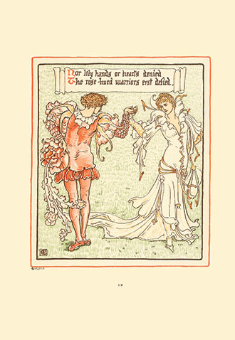 Queen Summer - Or the Tourney of the Lily and the Rose - Illustrated by Walter Crane