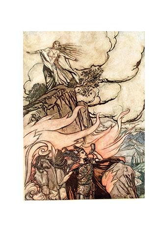 Siegfied & the Twilight of the Gods - Illustrated by Arthur Rackham