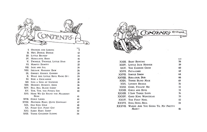 Old English Nursery Songs - Pictured by Anne Anderson