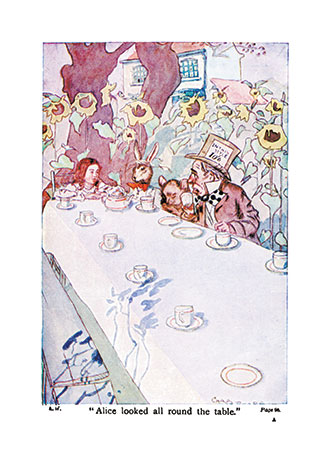 Alice's Adventures in Wonderland - Illustrated by C. Pears and T. H. Robinson