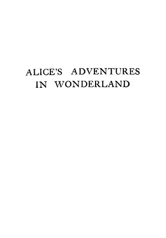 Alice in Wonderland - Illustrated by Frank Adams