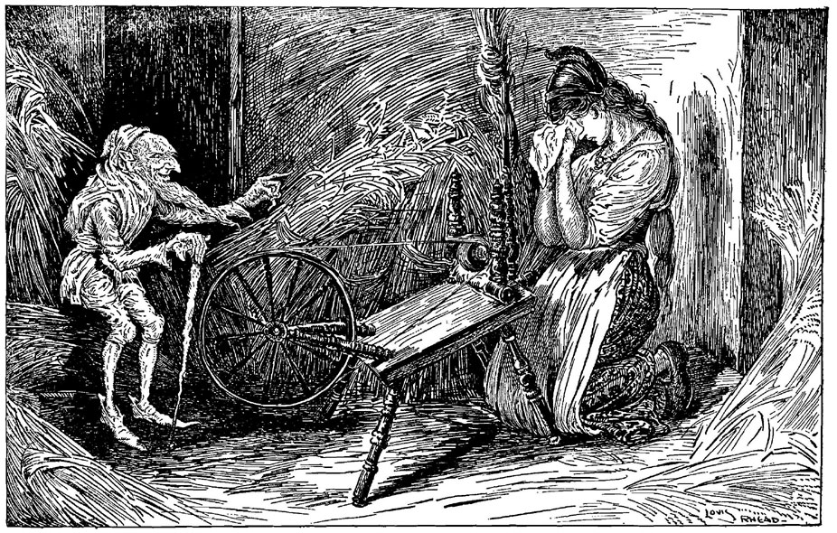 Rumpelstiltskin. From Grimm's Fairy Tales - Illustrated by Louis Rhead