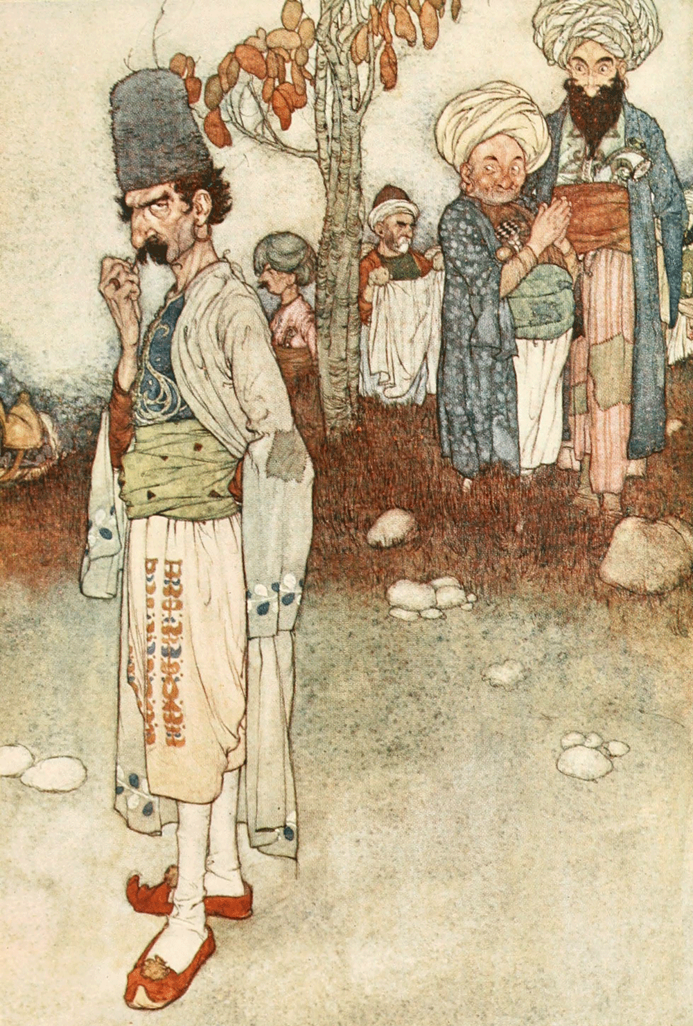 Ali Baba and the Forty Thieves, Edmund Dulac, Arabian Nights