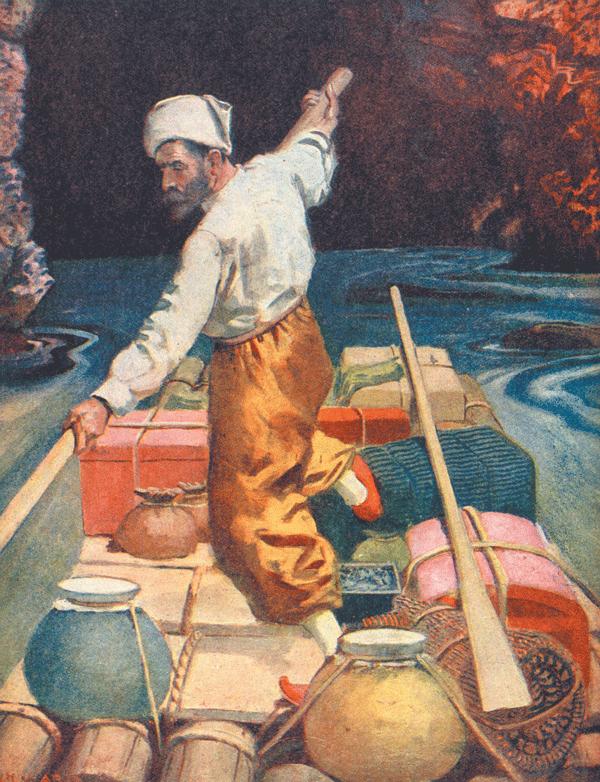 The Children's Treasure Book - Vol III - The Arabian Nights - Illustration by C. H. Ward