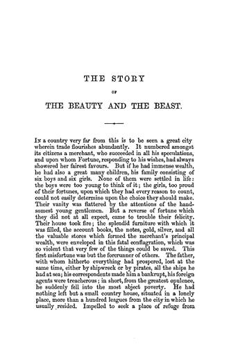 madame de villeneuve s original beauty and the beast pook press