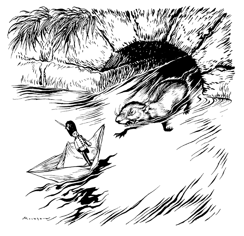 The Steadfast Tin Soldier illustration by Arthur Rackhan