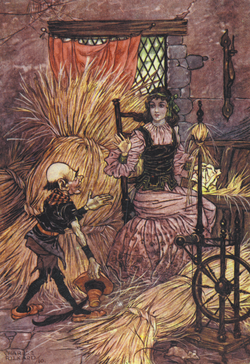 Rumpelstiltskin illustration by Charles Folkard