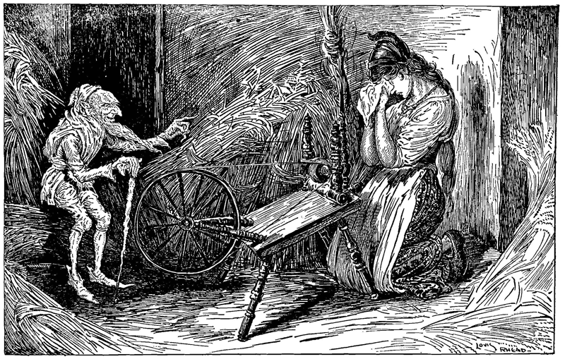 Rumpelstiltskin illustration by Louis Rhead