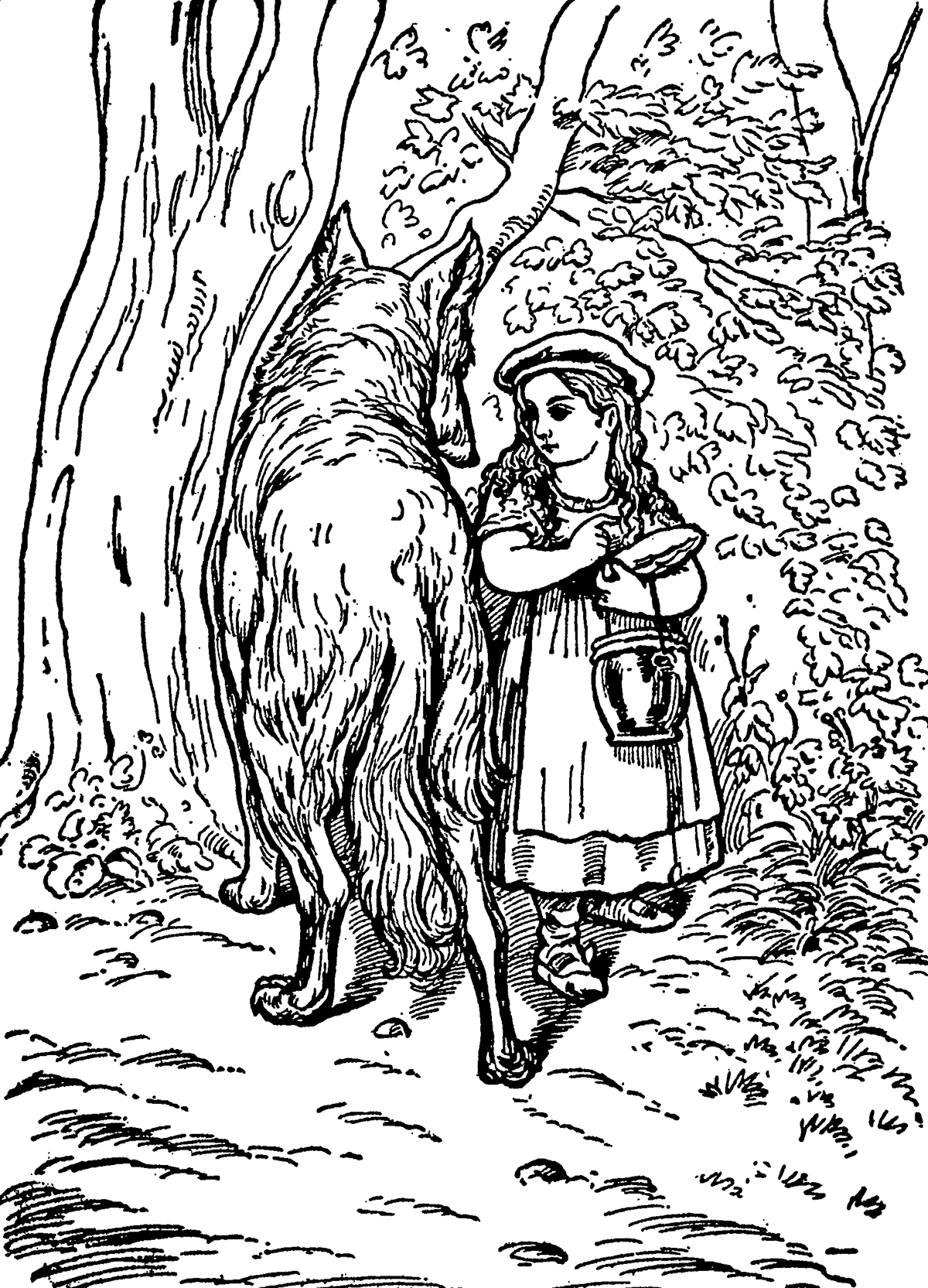 Little Red Riding Hood, The Tales of Mother Goose illustrated by D. J. Munro