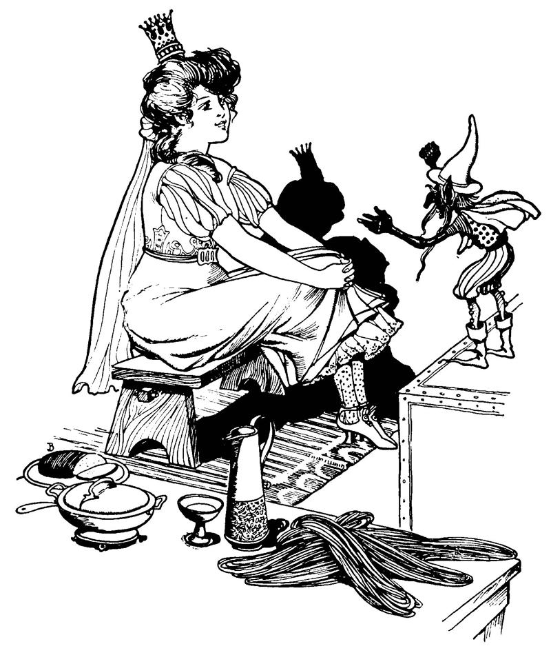 Rumpelstiltskin illustration by Willard Bonte