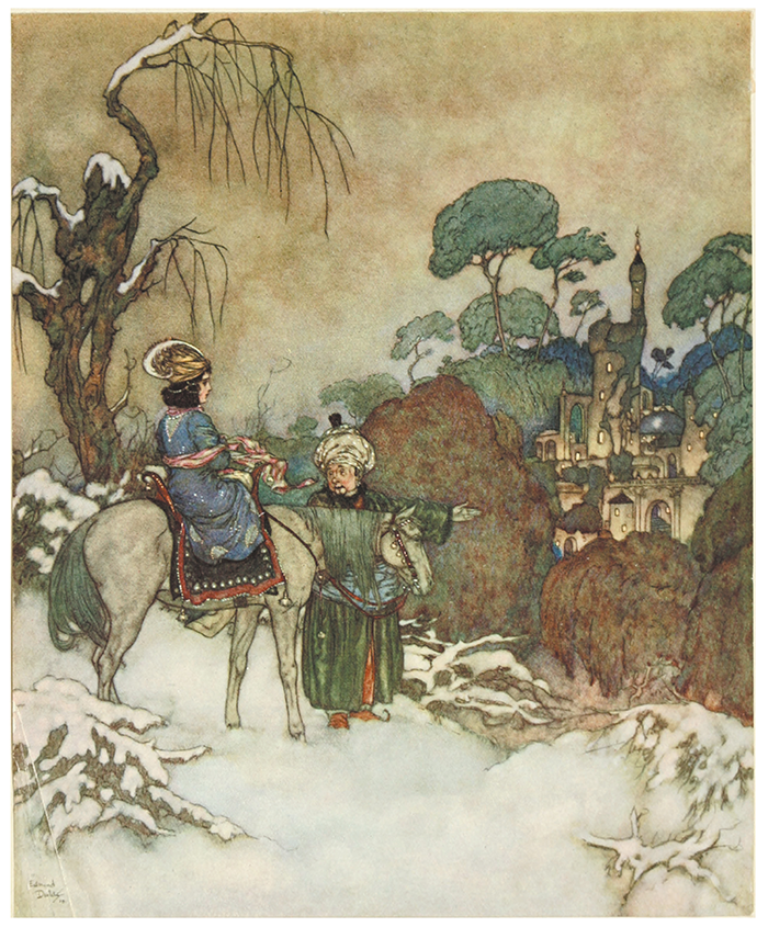 Beauty and the Beast illustration by Edmund Dulac
