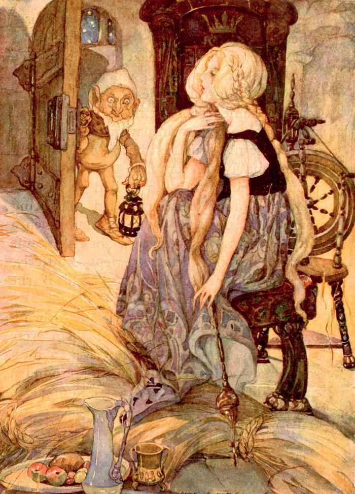Rumpelstiltskin, Brothers Grimm, Anne Anderson, The Millers Daughter