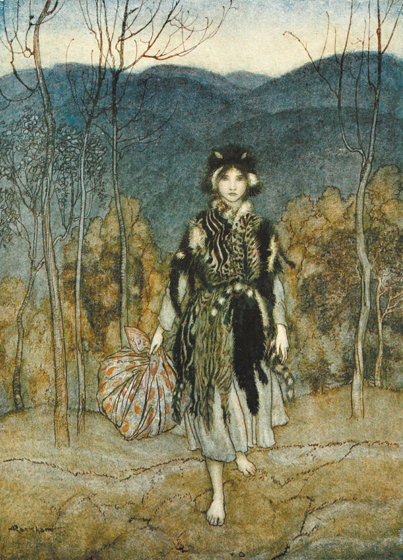 Catskin, English fairy Tale, Arthur Rackham