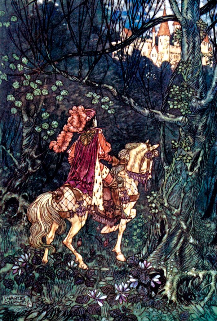 Briar-Rose, Sleeping Beauty, Brothers Grimm, Charles Folkard