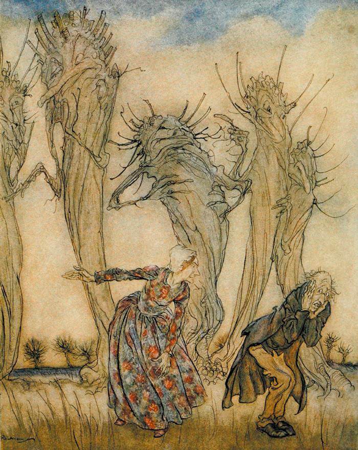 Mr and Mrs Vinegar, English Fairy Tales, Arthur Rackham