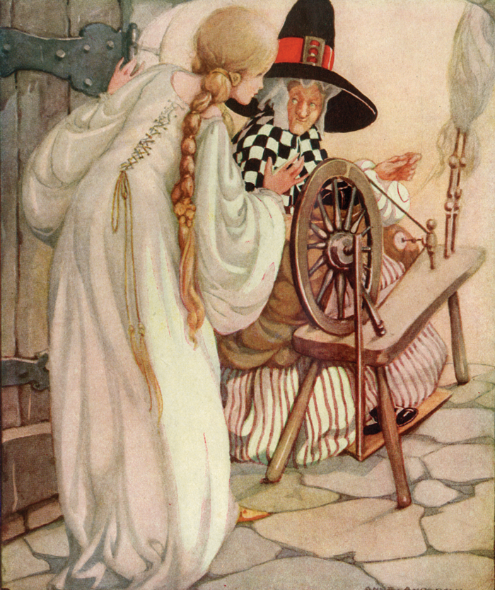 Briar-Rose, Sleeping Beauty, Brothers Grimm, Anne Anderson