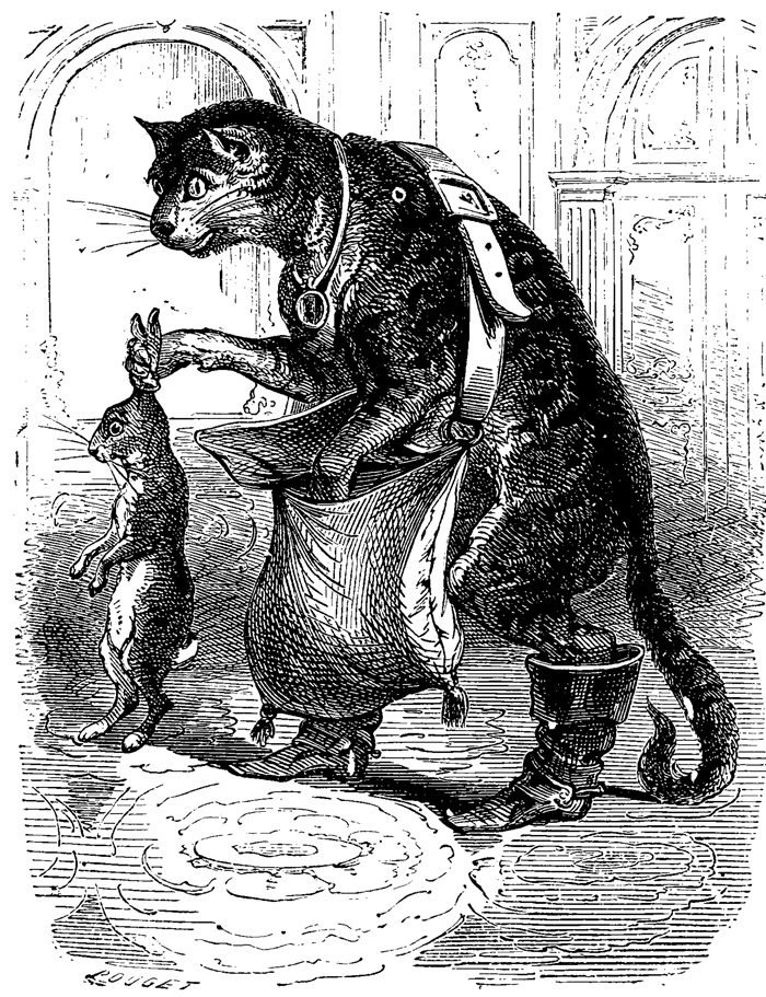 'Puss in Boots' Contes De Fées, 1908 Illustrated by Beauge Bertall.